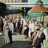 Outdoor wedding ceremony at Lansing Center